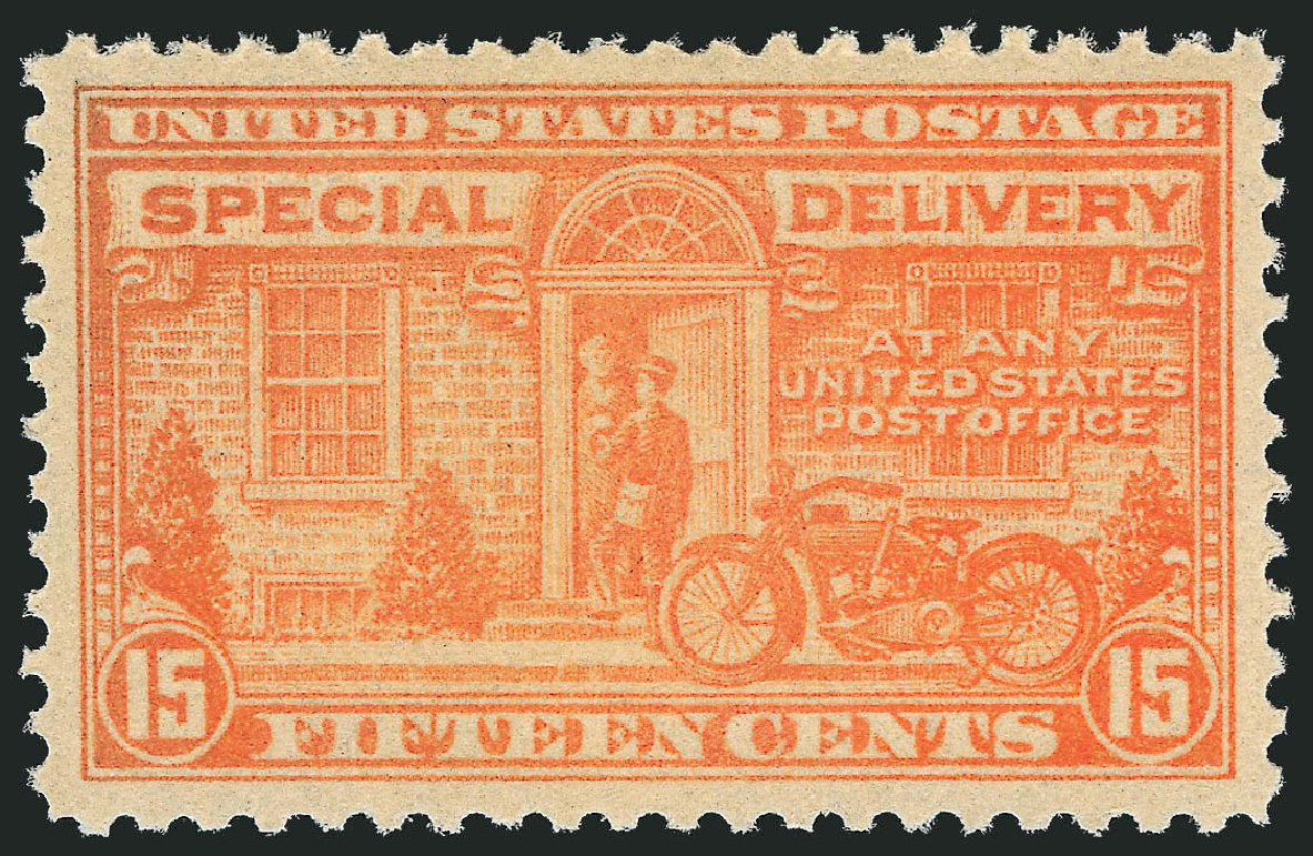 Costs of US Stamp Scott # E13: 1925 15c Special Delivery. Robert Siegel Auction Galleries, Nov 2012, Sale 1034, Lot 543