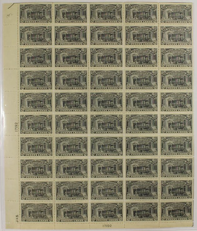 US Stamp Prices Scott Catalog E14: 20c 1925 Special Delivery. Daniel Kelleher Auctions, Dec 2013, Sale 640, Lot 538