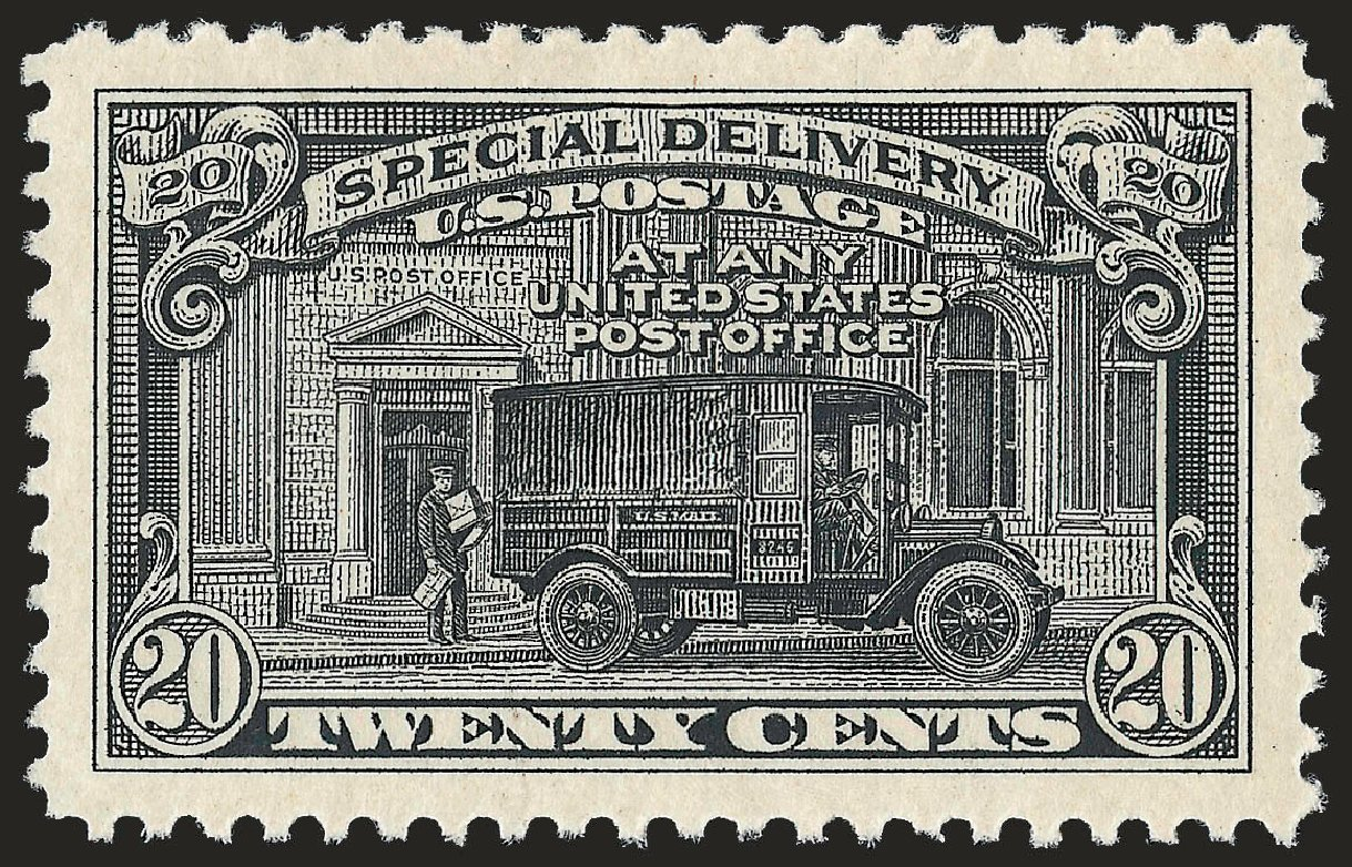 Value of US Stamp Scott # E14 - 20c 1925 Special Delivery. Robert Siegel Auction Galleries, Dec 2008, Sale 967, Lot 5088
