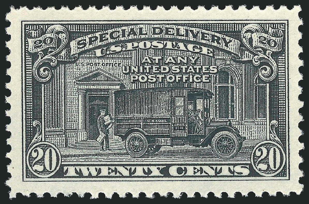 US Stamps Prices Scott Cat. E14 - 1925 20c Special Delivery. Robert Siegel Auction Galleries, Dec 2010, Sale 1000, Lot 1284