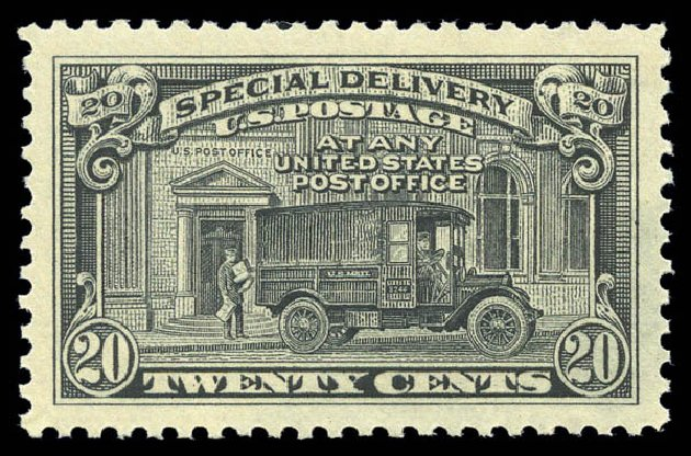 Prices of US Stamp Scott Catalogue E14: 1925 20c Special Delivery. Matthew Bennett International, Sep 2010, Sale 333, Lot 3935