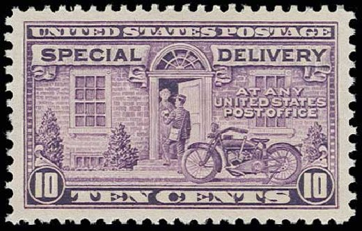 Costs of US Stamp Scott Catalogue E15: 1927 10c Special Delivery. H.R. Harmer, Jun 2013, Sale 3003, Lot 1558