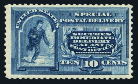 Costs of US Stamps Scott Catalogue #E2: 10c 1888 Special Delivery. Harmer-Schau Auction Galleries, Aug 2014, Sale 102, Lot 2177