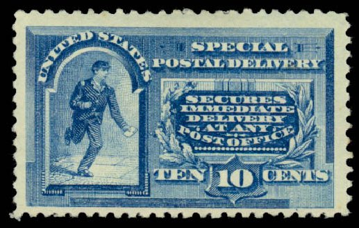 Prices of US Stamp Scott Catalog #E2 - 1888 10c Special Delivery. Daniel Kelleher Auctions, Mar 2014, Sale 650, Lot 2658