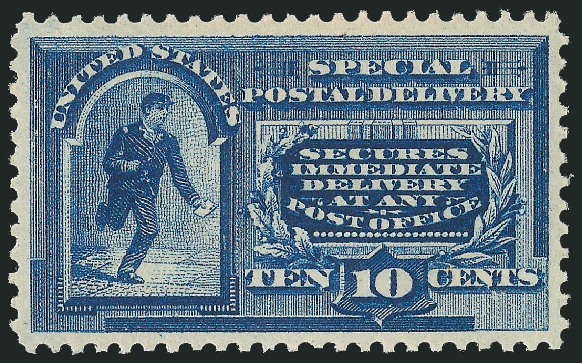 US Stamp Values Scott Catalogue #E2 - 1888 10c Special Delivery. Robert Siegel Auction Galleries, Mar 2015, Sale 1094, Lot 8