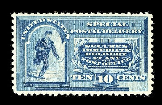 US Stamp Value Scott Catalogue #E2 - 1888 10c Special Delivery. Spink Shreves Galleries, May 2014, Sale 148, Lot 368