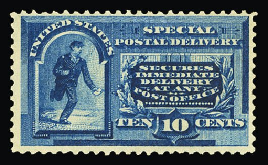 Prices of US Stamps Scott Catalog #E2 - 10c 1888 Special Delivery. Cherrystone Auctions, Jul 2015, Sale 201507, Lot 2189