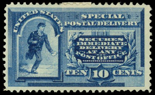 Prices of US Stamp Scott E2 - 10c 1888 Special Delivery. Daniel Kelleher Auctions, May 2014, Sale 652, Lot 849