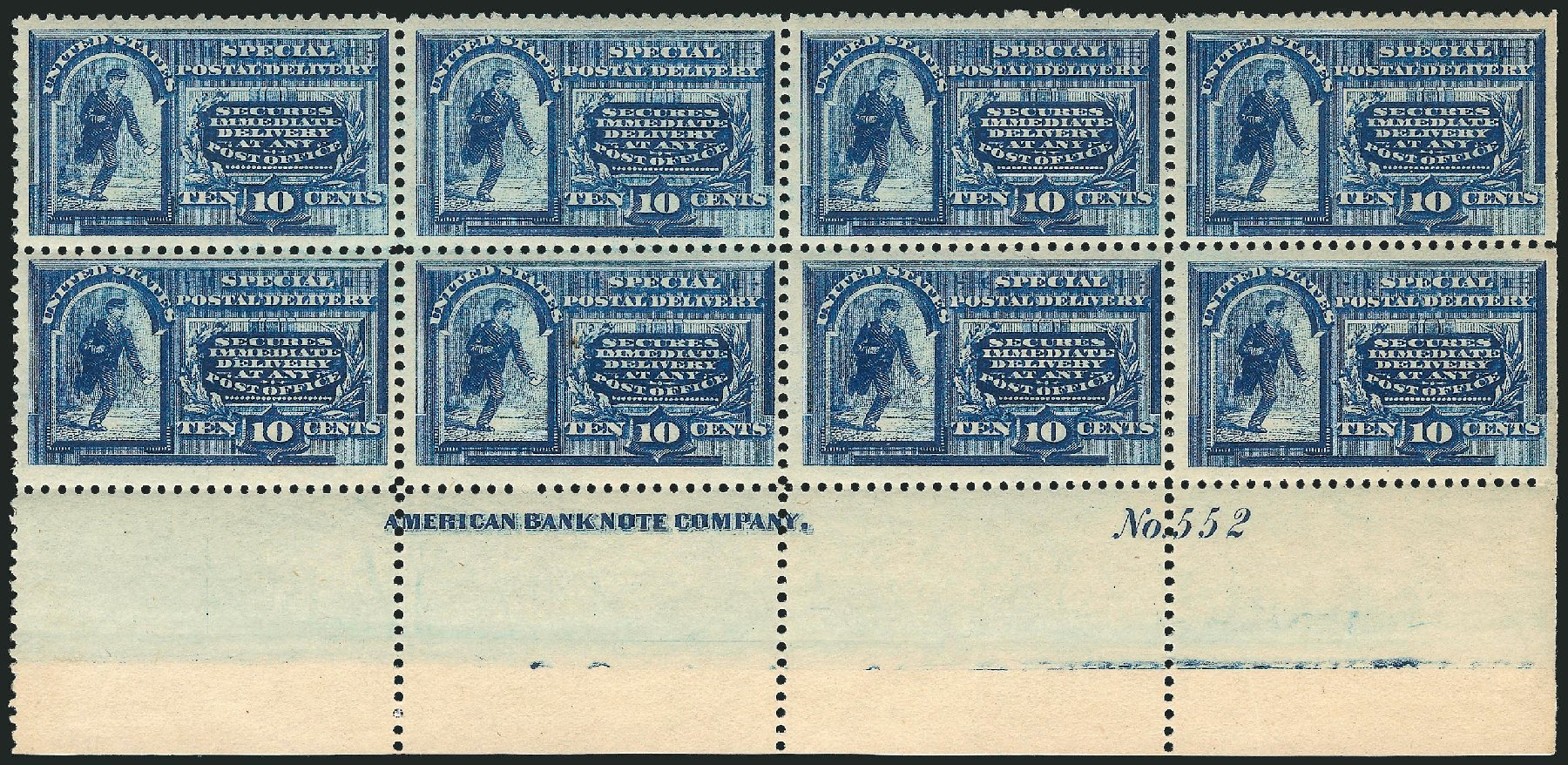 US Stamp Values Scott E2 - 10c 1888 Special Delivery. Robert Siegel Auction Galleries, Apr 2015, Sale 1096, Lot 829