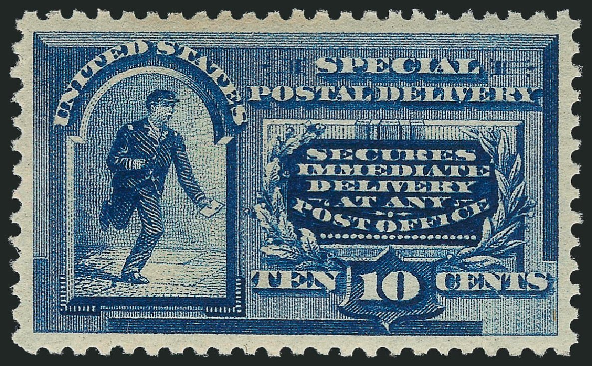 Prices of US Stamps Scott Catalog E2 - 10c 1888 Special Delivery. Robert Siegel Auction Galleries, May 2013, Sale 1044, Lot 320
