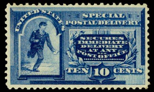 US Stamp Price Scott Cat. # E2 - 1888 10c Special Delivery. Daniel Kelleher Auctions, Dec 2013, Sale 640, Lot 531