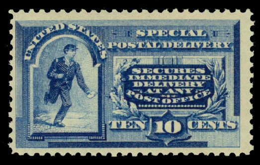 Prices of US Stamps Scott Cat. E2: 1888 10c Special Delivery. Daniel Kelleher Auctions, May 2015, Sale 669, Lot 3271