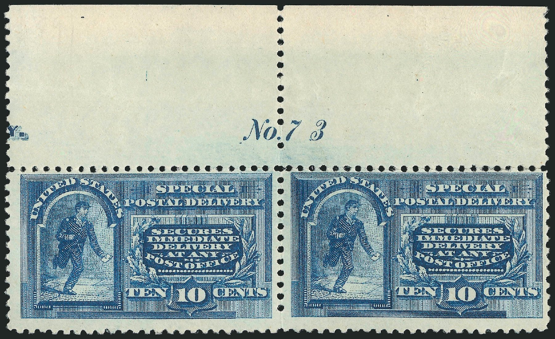 Costs of US Stamp Scott E2 - 10c 1888 Special Delivery. Robert Siegel Auction Galleries, Jul 2014, Sale 1077, Lot 381