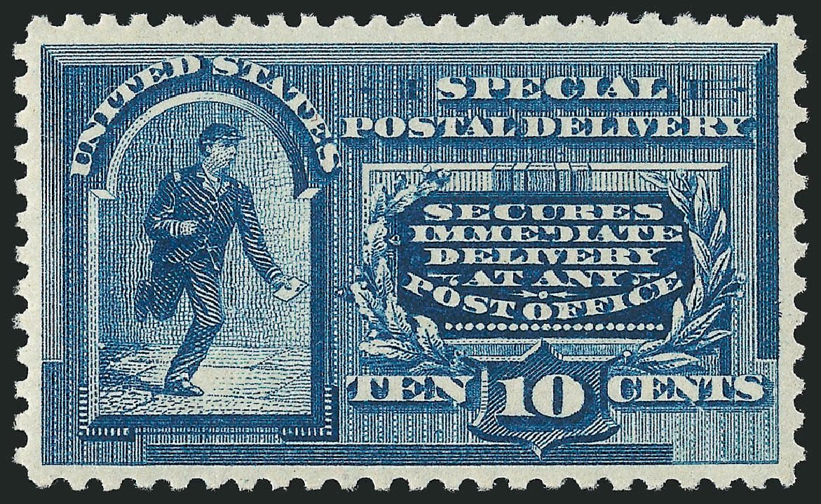 Values of US Stamp Scott Cat. E2: 1888 10c Special Delivery. Robert Siegel Auction Galleries, Feb 2015, Sale 1092, Lot 1421