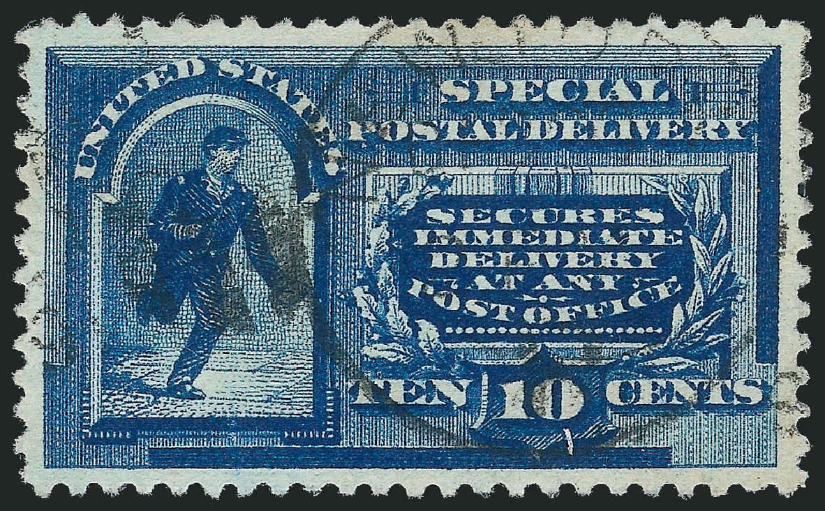 Values of US Stamp Scott Cat. # E2 - 10c 1888 Special Delivery. Robert Siegel Auction Galleries, Jul 2013, Sale 1050, Lot 734