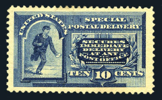 Cost of US Stamp Scott Catalog # E2: 10c 1888 Special Delivery. Harmer-Schau Auction Galleries, Aug 2015, Sale 106, Lot 2072