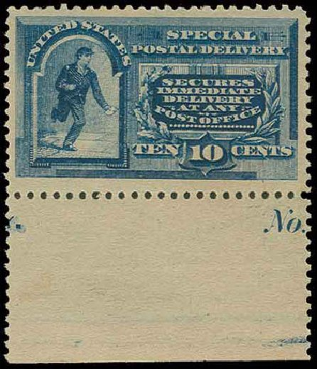 Costs of US Stamps Scott Catalog E2: 10c 1888 Special Delivery. H.R. Harmer, Nov 2013, Sale 3004, Lot 1372