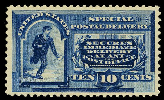 Price of US Stamps Scott Cat. # E2 - 1888 10c Special Delivery. Daniel Kelleher Auctions, May 2015, Sale 669, Lot 3272