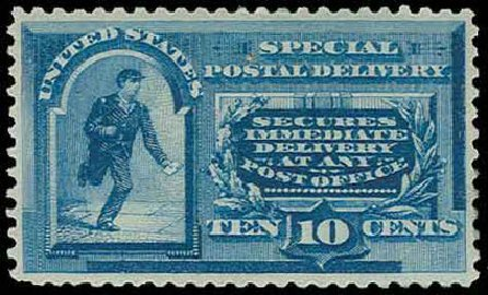 US Stamps Values Scott Catalogue # E2 - 10c 1888 Special Delivery. H.R. Harmer, Nov 2013, Sale 3004, Lot 1373