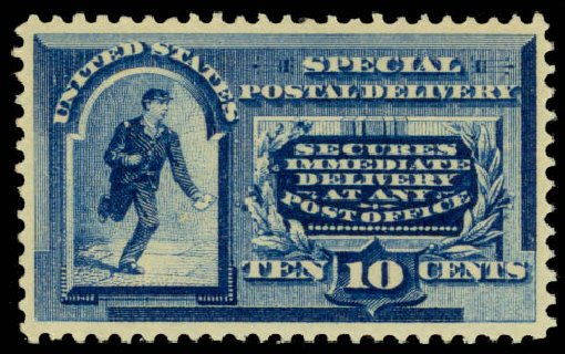 Price of US Stamps Scott #E2 - 1888 10c Special Delivery. Daniel Kelleher Auctions, Sep 2013, Sale 639, Lot 1213