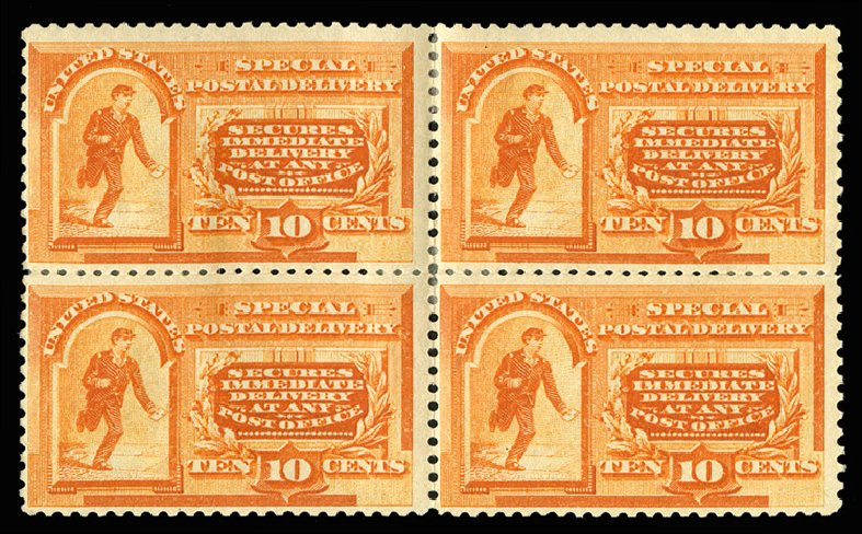 US Stamps Prices Scott #E3 - 10c 1893 Special Delivery. Cherrystone Auctions, Mar 2014, Sale 201403, Lot 77
