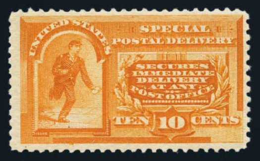 Costs of US Stamp Scott Cat. E3 - 1893 10c Special Delivery. Harmer-Schau Auction Galleries, Aug 2014, Sale 102, Lot 2178
