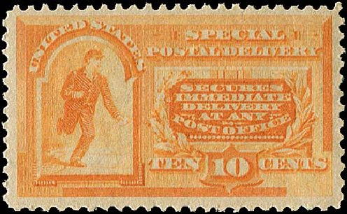 US Stamp Prices Scott Catalogue # E3: 10c 1893 Special Delivery. Regency-Superior, Aug 2015, Sale 112, Lot 1049