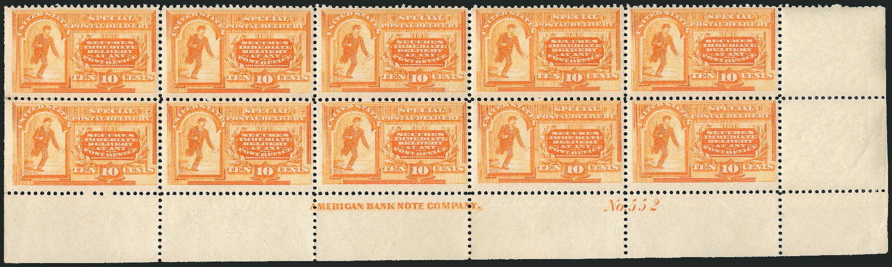 US Stamp Price Scott Catalogue #E3 - 1893 10c Special Delivery. Robert Siegel Auction Galleries, Apr 2015, Sale 1096, Lot 830