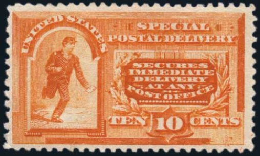 Prices of US Stamp Scott E3: 10c 1893 Special Delivery. Harmer-Schau Auction Galleries, Jan 2014, Sale 100, Lot 671