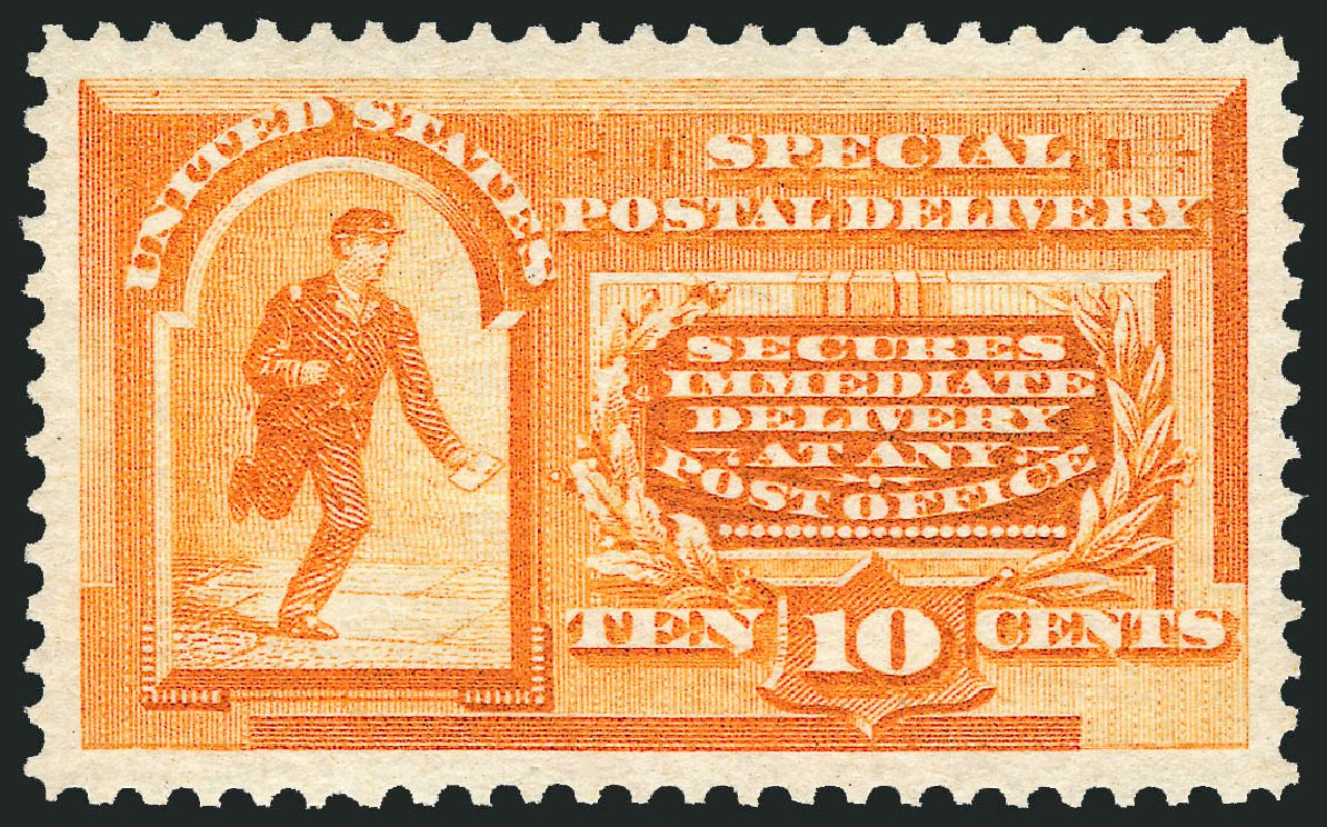 Cost of US Stamps Scott #E3: 1893 10c Special Delivery. Robert Siegel Auction Galleries, Mar 2015, Sale 1094, Lot 11