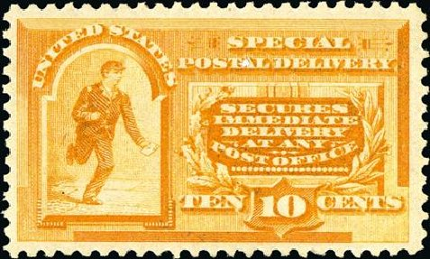 US Stamps Price Scott #E3: 1893 10c Special Delivery. Spink Shreves Galleries, Jan 2015, Sale 150, Lot 234