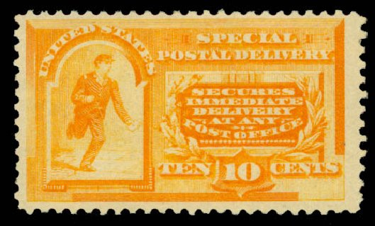 Price of US Stamps Scott # E3: 10c 1893 Special Delivery. Daniel Kelleher Auctions, May 2015, Sale 669, Lot 3275