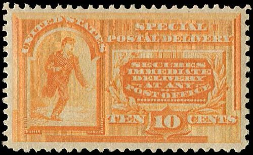 Cost of US Stamp Scott Catalogue #E3: 1893 10c Special Delivery. Regency-Superior, Jan 2015, Sale 109, Lot 1435