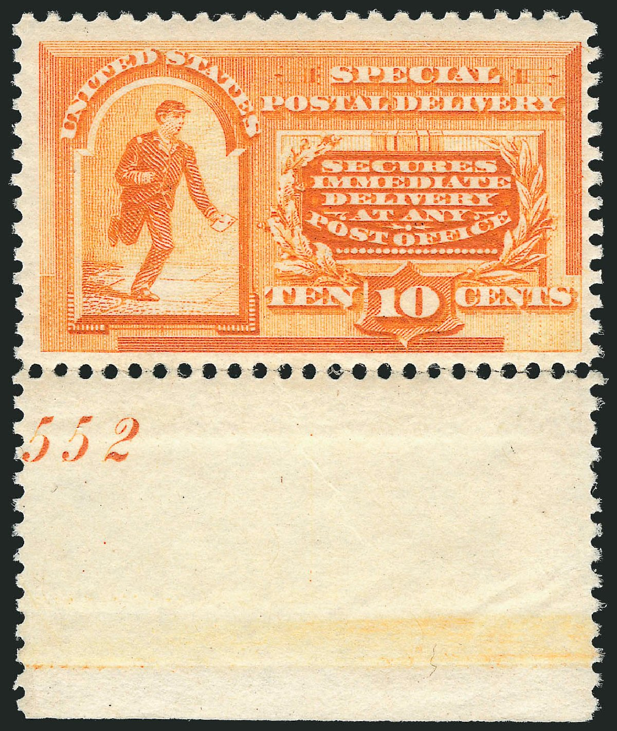 Price of US Stamp Scott # E3 - 10c 1893 Special Delivery. Robert Siegel Auction Galleries, Jul 2014, Sale 1077, Lot 382
