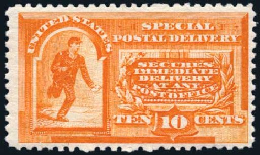 US Stamp Value Scott #E3: 1893 10c Special Delivery. Harmer-Schau Auction Galleries, May 2014, Sale 101, Lot 203