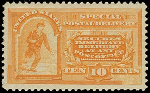 US Stamp Price Scott Catalog # E3 - 1893 10c Special Delivery. H.R. Harmer, Oct 2014, Sale 3006, Lot 1493