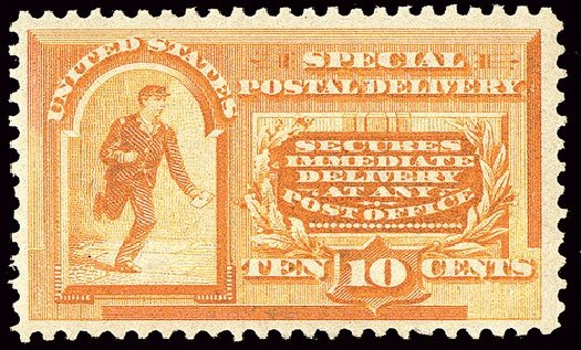 Costs of US Stamps Scott Catalogue #E3 - 10c 1893 Special Delivery. Spink Shreves Galleries, Jan 2014, Sale 146, Lot 506
