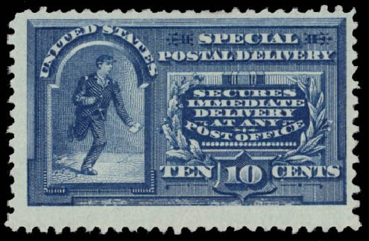 US Stamp Prices Scott Catalogue E4 - 1894 10c Special Delivery. Daniel Kelleher Auctions, May 2015, Sale 669, Lot 3278