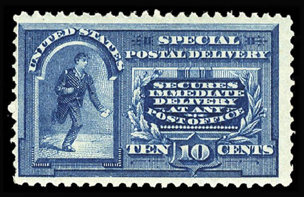 US Stamp Value Scott # E4: 10c 1894 Special Delivery. Cherrystone Auctions, Jan 2015, Sale 201501, Lot 200