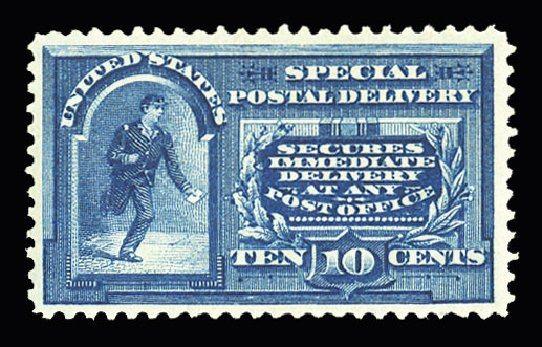 Value of US Stamps Scott Catalog #E4 - 1894 10c Special Delivery. Cherrystone Auctions, Jul 2015, Sale 201507, Lot 2190