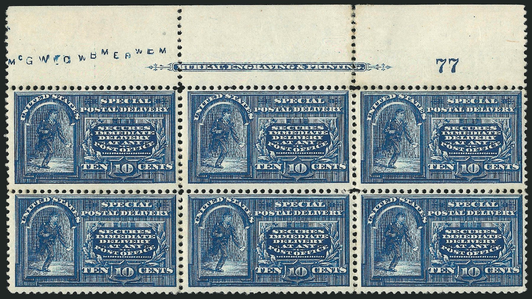 Costs of US Stamps Scott Cat. # E4: 1894 10c Special Delivery. Robert Siegel Auction Galleries, Apr 2015, Sale 1096, Lot 831