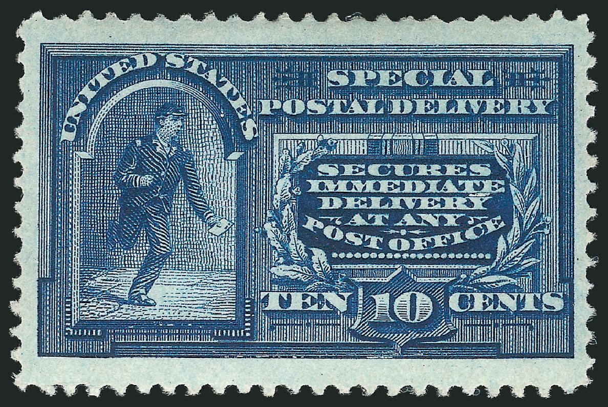 Values of US Stamps Scott Catalogue # E4: 10c 1894 Special Delivery. Robert Siegel Auction Galleries, Mar 2015, Sale 1094, Lot 14