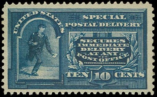 Price of US Stamps Scott Catalog E4: 1894 10c Special Delivery. H.R. Harmer, Oct 2014, Sale 3006, Lot 1495