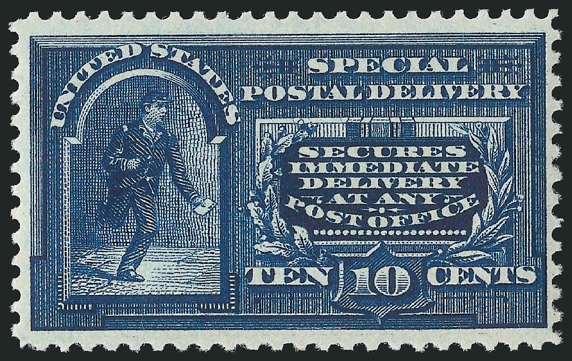 US Stamps Prices Scott Catalogue # E4: 1894 10c Special Delivery. Robert Siegel Auction Galleries, Feb 2015, Sale 1092, Lot 1423