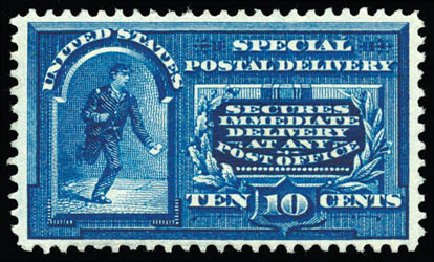 Cost of US Stamps Scott Catalog #E4: 10c 1894 Special Delivery. Schuyler J. Rumsey Philatelic Auctions, Apr 2015, Sale 60, Lot 2486