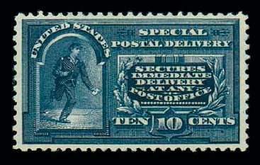 Value of US Stamps Scott Cat. #E5 - 1895 10c Special Delivery. Matthew Bennett International, Dec 2007, Sale 325, Lot 2397