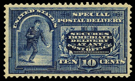 Value of US Stamps Scott Catalog # E5: 10c 1895 Special Delivery. Daniel Kelleher Auctions, May 2015, Sale 669, Lot 3279