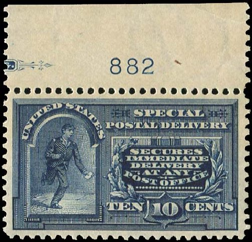 Value of US Stamp Scott Catalog #E5 - 10c 1895 Special Delivery. Regency-Superior, Nov 2014, Sale 108, Lot 1120