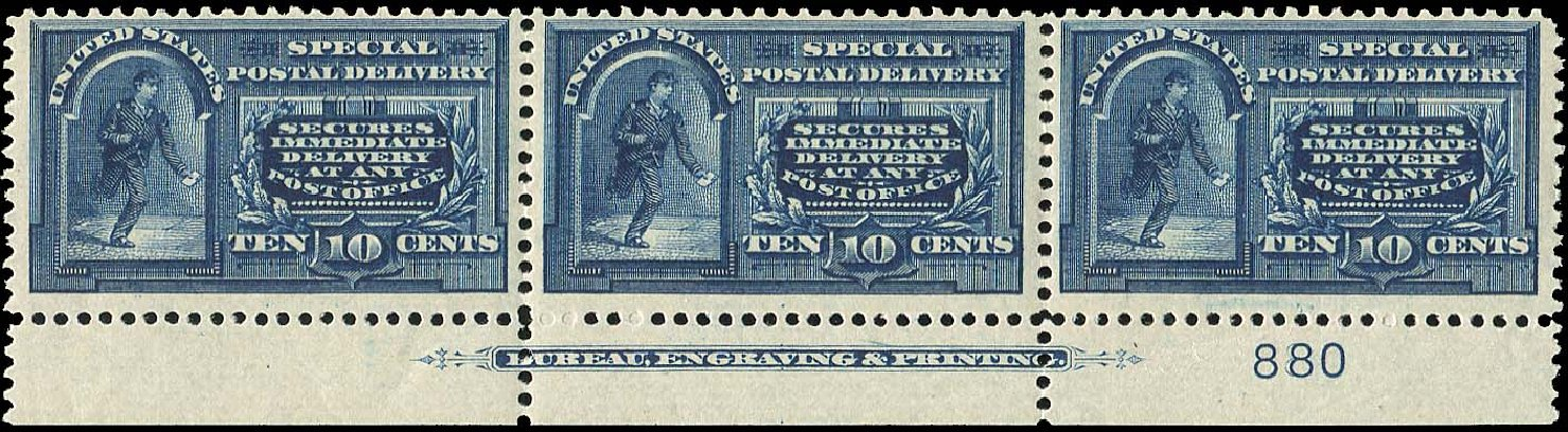 Value of US Stamp Scott Catalogue #E5 - 1895 10c Special Delivery. Regency-Superior, Jan 2015, Sale 109, Lot 1440
