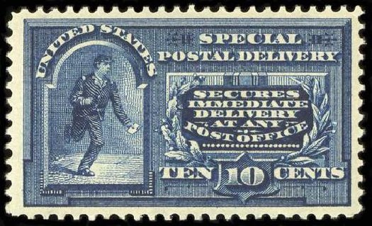 US Stamps Price Scott Cat. # E5: 1895 10c Special Delivery. Spink Shreves Galleries, Jul 2015, Sale 151, Lot 370